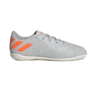 Chuteira-Futsal-Adidas-Nemeziz-Cinza/Laranja---EF8307