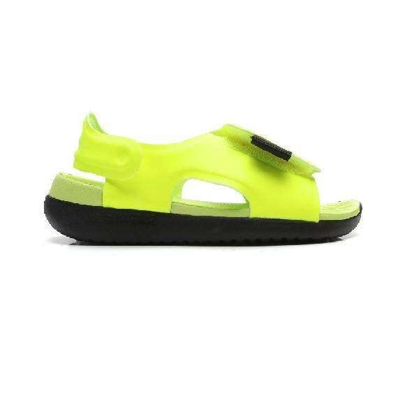 Sandália-Nike-Sunray-Adjust-5---Verde-limão/-Preto-AJ9076-700