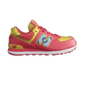 Tênis-New-Balance--Vermelho/Dourado/Branco--PC574IM