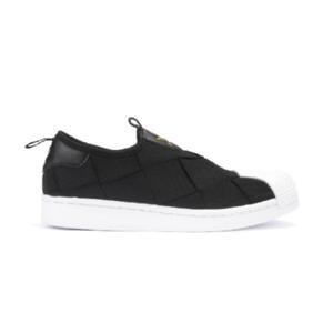 Tênis-Adidas-Superstar-Slip-on-Preto/Branco/Dourado---FV3187