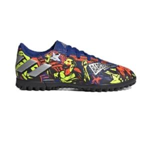 Chuteira-Adidas-Society--Nemeziz-Messi-Royal/Prata/Amarelo---EH0602