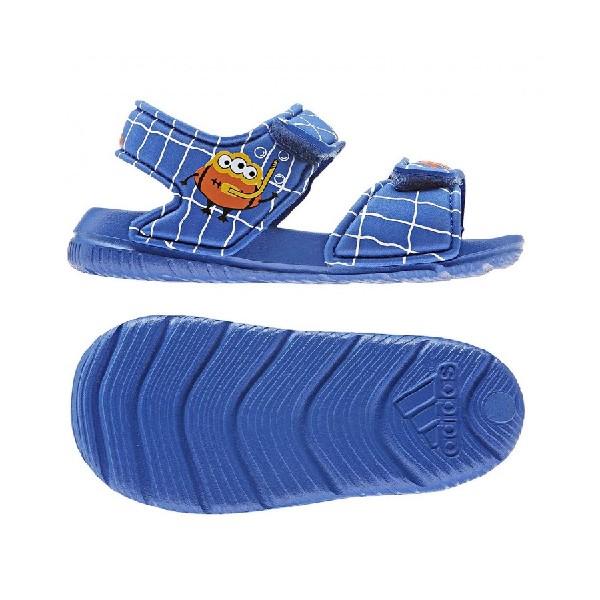 Sandália--Adidas-Menino-Altaswim-Azul/Azul/Laranja---EE9029
