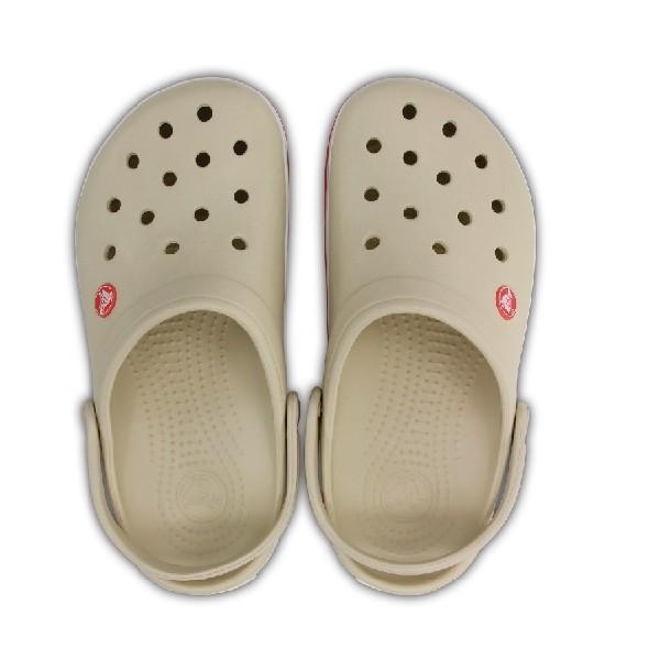 Sandália-Crocs-Crocband-Clog-Stucco/Melo-(Bege)---11016----