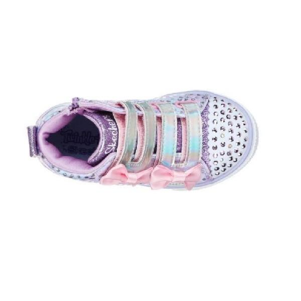 Tênis-Skechers-Twinkle-Toes-Lilás-20296N
