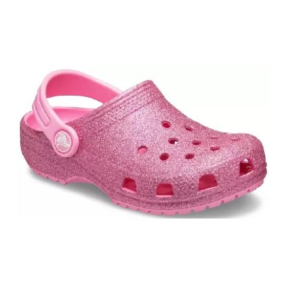 Sandália-Crocs-Classic-Glitter-Clog-Kids-Pink-Lemonade--205441