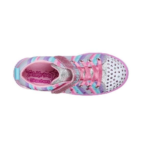 Tênis-Skechers-Twinkle-Sparkle-Lite---Pink/Azul-/Lilas-20275L-GYMT