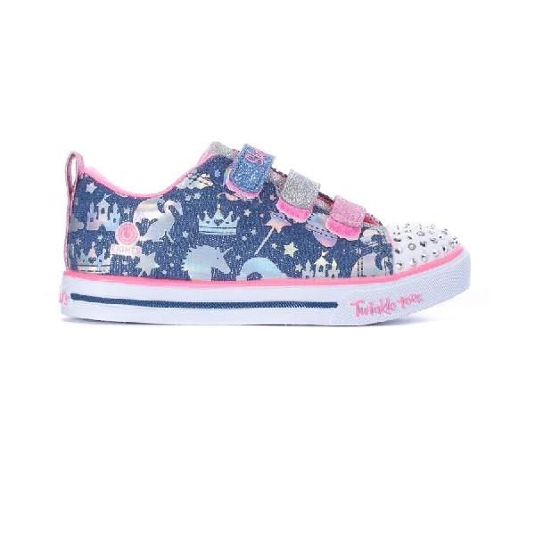 Tênis-Skechers-Twinkle-Sparkle-Lite--Pink/Azul-20274N-LBMT