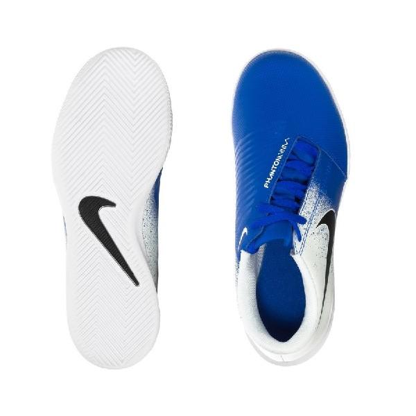 Chuteira-Futsal--Nike-Phantom-Venom-Club-Branco/Preto/Azul--AO0399-104